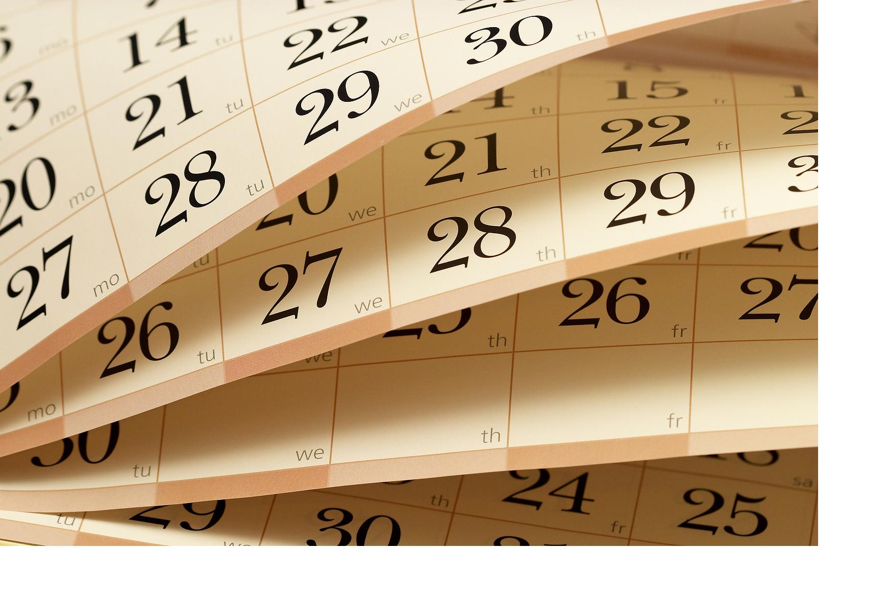 Graphic Design Calendar